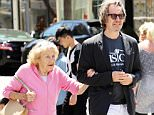 Gary Oldman seen going shopping with his Mother in Los Angeles, CA.  Pictured: Gary Oldman Ref: SPL1044620  050615   Picture by: KAT / Splash News  Splash News and Pictures Los Angeles: 310-821-2666 New York: 212-619-2666 London: 870-934-2666 photodesk@splashnews.com