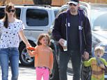 Sunday, June 7, 2015 - Ben Affleck and Jennifer Garner are a united front as they take their kids to the farmers market in Pacific Palisades, CA amid reports that their marriage is on the rocks. Globo/X17online.com