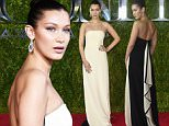 NEW YORK, NY - JUNE 07:  (EDITORS NOTE: Image has been processed using digital filters.) Model Bella Hadid attends the 2015 Tony Awards at Radio City Music Hall on June 7, 2015 in New York City.  (Photo by Mike Coppola/Getty Images for Tony Awards Productions)