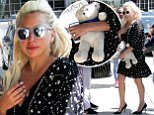 Mandatory Credit: Photo by REX Shutterstock (4826652a)\n Lady Gaga\n Lady Gaga out and about, Belgrade, Serbia - 07 Jun 2015\n Lady Gaga after four days left Serbia. She visited her fiance Taylor Kinney who is filming The Forest movie in Belgrade. He didn't come with her to the airport.\n