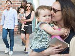 Tamara Ecclestone and Jay Rutland seen out for a walk in Manhattan with their daughter Sophia on June 06, 2015 in New York, New York.  Ref: SPL1046641  070615   Picture by: BleacherCreatures.tv/Splash News  Splash News and Pictures Los Angeles: 310-821-2666 New York: 212-619-2666 London: 870-934-2666 photodesk@splashnews.com