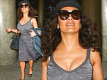 Los Angeles, CA - Actress Salma Hayek makes her way through Los Angeles International Airport.\n \nAKM-GSI June 6, 2015\n \n To License These Photos, Please Contact :\n \n Steve Ginsburg\n (310) 505-8447\n (323) 423-9397\n steve@akmgsi.com\n sales@akmgsi.com\n \n or\n \n Maria Buda\n (917) 242-1505\n mbuda@akmgsi.com\n ginsburgspalyinc@gmail.com