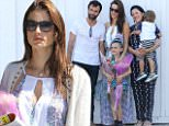 Picture Shows: Alessandra Ambrosio  June 07, 2015\n \n Model Alessandra Ambrosio and fiance Jamie Mazur spotted out for lunch with their kids Anja and Noah at the Brentwood Country Mart in Brentwood, California. The family was having lunch after attending a graduation ceremony for Anja. \n \n Non-Exclusive\n UK RIGHTS ONLY\n \n Pictures by : FameFlynet UK © 2015\n Tel : +44 (0)20 3551 5049\n Email : info@fameflynet.uk.com