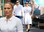 EXCLUSIVE: Jennifer Lopez was wearing a white dress with black flats and white hand bag.\n\nPictured: Jennifer Lopez\nRef: SPL1045382  060615   EXCLUSIVE\nPicture by: NorthWoodsPix / Splash News\n\nSplash News and Pictures\nLos Angeles: 310-821-2666\nNew York: 212-619-2666\nLondon: 870-934-2666\nphotodesk@splashnews.com\n