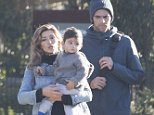 Mark Philippoussis and wife Silvana Phillippoussis Lovin with son Nicholas at Bundoora Childrens Farm MUST CREDIT DIIMEX
