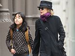 Mandatory Credit: Photo by Startraks Photo/REX Shutterstock (4831249b)  Meg Ryan and Daisy Ryan  Meg Ryan out and about, New York, America - 08 Jun 2015  Meg Ryan takes her daughter to School