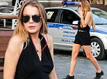 EXCLUSIVE TO INF. June 7, 2015: Lindsay Lohan explores Moscow, a day after arriving in the Russian capital where she attended the FIA Formula E ePrix car races. The 'Mean Girls' star has been touring Europe since she completed community service in New York City less-than-two weeks ago. The 28-year-old actress spent time at the Duffield Children's Centre in Brooklyn, New York, where she undertook 125 hours of voluntary work as part of her punishment stemming from a reckless driving incident in 2012. Mandatory Credit: INFphoto.com Ref: inf-00