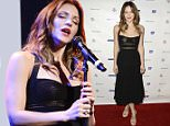 """IMAGE DISTRIBUTED FOR AMERICAN CANCER SOCIETY - Actress and singer Katharine McPhee performs at the American Cancer Society """"Birthday Ball 2015"""" at the Beverly Hills Hotel in Beverly Hills, Calif. on Saturday, June 6, 2015. (Photo by Dan Steinberg/Invision for American Cancer Society/AP Images)"""
