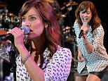 epa04788594 Australian singer, songwriter, model and actress Natalie Imbruglia performs on the main stage at the last night of 'The Summer Misk Festival 2015' in Beirut, Lebanon, 07 June 2015. The festival runs from 04 to 07 June.  EPA/WAEL HAMZEH