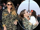 Mandatory Credit: Photo by SIPA/REX Shutterstock (4831217m)  Mariah Carey  Mariah Carey out and about, Paris, France - 08 Jun 2015  Mariah Carey leaving her hotel with her children