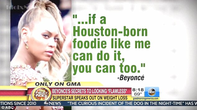 Motivation: The star insisted that if a foodie like her could follow the program, anyone could