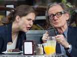 EXCLUSIVE: Bill Nighy and daughter Mary Nighy seen having late lunch and after picking up some postcards in West Village, New York City, USA.  Pictured: Bill Nighy and Mary Nighy Ref: SPL1048592  080615   EXCLUSIVE Picture by: GSNY / Splash News  Splash News and Pictures Los Angeles: 310-821-2666 New York: 212-619-2666 London: 870-934-2666 photodesk@splashnews.com
