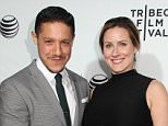Mandatory Credit: Photo by BEI/REX_Shutterstock (4667715di).. Theo Rossi and Meghan McDermott.. 'Live From New York!' documentary premiere, Tribeca Film Festival, New York, America - 15 Apr 2015.. ..