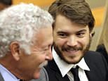 Actor Emile Hirsch, right, talks with his attorney Neil Kaplan in the courtroom, Monday, June 8, 2015, in Park City, Utah. Hirsch made another court appearance on allegations that he put a studio executive in a chokehold while he was in town for the Sundance Film Festival. (AP Photo/Rick Bowmer, Pool)