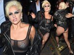 Lady Gaga visits the Crobar Whisky n Beer bar in Soho, wearing a typically outrageous outfit  Pictured: Lady Gaga Ref: SPL1049504  090615   Picture by: Squirrel / Splash News  Splash News and Pictures Los Angeles: 310-821-2666 New York: 212-619-2666 London: 870-934-2666 photodesk@splashnews.com