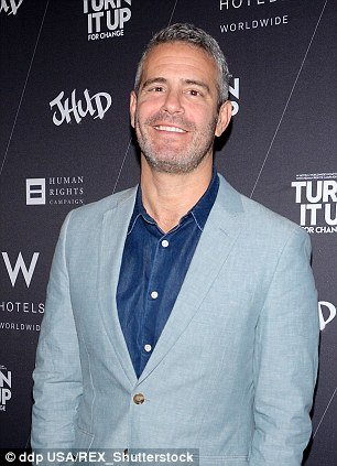 Not much say: Andy Cohen, left, said that Bethenny Frankel, right, has 'no warning' over how she's portrayed on The Real Housewives Of New York