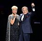 Tony Bennett, right, and Lady Gaga, perform onstage as part of their Cheek to Cheek Tour at the Royal Albert Hall in London, Monday, June 8, 2015 (Photo by Mark Allan/Invision/AP) UNITED KINGDOM OUT