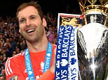 LONDON, ENGLAND - MAY 24:  Petr Cech of Chelsea celebrates with the trophy after the Barclays Premier League match between Chelsea and Sunderland at Stamford Bridge on May 24, 2015 in London, England. Chelsea were crowned Premier League champions.  (Photo by Mike Hewitt/Getty Images)