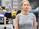 EXCLUSIVE: Jennifer Lawrence takes an early evening stroll in sunny NYC showing off her legs.  Pictured: Jennifer Lawrence Ref: SPL1049858  090615   EXCLUSIVE Picture by: XactpiX/Marquez/Splash  Splash News and Pictures Los Angeles: 310-821-2666 New York: 212-619-2666 London: 870-934-2666 photodesk@splashnews.com