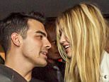 Joe Jonas Gig Hadid and Scott disick at the supperclub Los Angeles