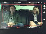 The X-FilesVerified account ?@thexfilesfox EXCLUSIVE: Your first look at Mulder and Scully! #TheXFiles  Gillian Anderson,David Duchovny,Joel McHael on the Set