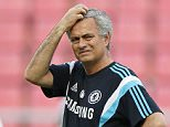 epa04773809 Chelsea's Portuguese manager Jose Mourinho reacts during his team's training session at Rajamangala National Stadium in Bangkok, Thailand, 29 May 2015. Chelsea FC will play a friendly soccer match against a Thailand All-Stars team on 30 May 2015 in Bangkok as part of a pre-season tour in Asia.  EPA/RUNGROJ YONGRIT