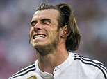 """Gareth Bale of Real Madrid CF reacts during the UEFA Champions League semi final match between Real Madrid CF and Juventus at Estadio Santiago Bernabeu on May 13, 2015 in Madrid, Spain.   MADRID, SPAIN - MAY 13:   (Photo by Juan Manuel Serrano Arce/Getty Images)  """"Please note this image forms part of the Getty Premium Access agreement and may incur an additional fee. If reused it must be downloaded from the Getty site"""""""