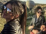 NEVSEHIR, TURKEY - JUNE 10: US model Kendall Jenner (L) poses for a photo on a hot air balloon as she visits Cappadocia after she attended the 20th Dosso Dossi Fashion Show on Tuesday, in Nevsehir, Turkey on June 10, 2015. (Photo by Dosso Dossi Fashion Show/Anadolu Agency/Getty Images)