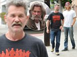 eURN: AD*171970368  Headline: Kurt Russell with new haircut hanging out with look alike son Caption: Kurt Russell with new haircut hanging out with look alike son Wyatt and wearing a shirt promoting his controversial  new film The Hateful Eight written and directed by  Quentin Tarantino. June 9, 2015 X17online.com Photographer: Green/X17online.com  Loaded on 09/06/2015 at 23:25 Copyright:  Provider: Green/X17online.com  Properties: RGB JPEG Image (5899K 555K 10.6:1) 1218w x 1653h at 300 x 300 dpi  Routing: DM News : GeneralFeed (Miscellaneous) DM Showbiz : SHOWBIZ (Miscellaneous) DM Online : Online Previews (Miscellaneous), CMS Out (Miscellaneous)  Parking: