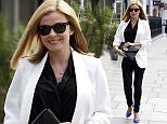 LONDON, UNITED KINGDOM - JUNE 10: Katherine Jenkins seen arriving at the Magic Radio Studios on June 10, 2015 in London, England. (Photo by Neil Mockford/Alex Huckle/GC Images)