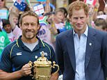 Rugby Union - England Rugby 2015 mark 100 days to go until the start of the Rugby World Cup - Twickenham Stadium - 10/6/15  Former England player Jonny Wilkinson with Prince Harry as England Rugby 2015 mark 100 days to go until the start of the Rugby World Cup  Action Images via Reuters / Paul Childs  Livepic