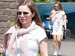 *** Fee of £150 applies for subscription clients to use images before 22.00 on 110615 *** EXCLUSIVE ALLROUNDERGeri Halliwell going to play tennis in North London Featuring: Geri Halliwell Where: London, United Kingdom When: 09 Jun 2015 Credit: WENN.com