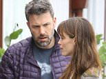 Ben Affleck and Jennifer Garner look very tense while taking daughter Seraphina to Brentwood Country Mart. Jennifer recently visited a divorce lawyer as rumors of a split begin to intensity. June 10, 2015 X17online.com