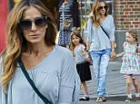 Sarah Jessica Parker is spotted wearing a gray shirt and denim jeans while out with her twin daughters in the West Village neighborhood of NYC.\n\nPictured: Sarah Jessica Parker, Marion Broderick and Tabitha Broderick\nRef: SPL1050001  100615  \nPicture by: J. Webber / Splash News\n\nSplash News and Pictures\nLos Angeles: 310-821-2666\nNew York: 212-619-2666\nLondon: 870-934-2666\nphotodesk@splashnews.com\n