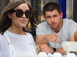 Nick Jonas was spotted eating lunch at a West Village cafe on Thursday. The singer was without girlfriend Olivia Culpo. The pair are in town, but staying in separate hotels. They haven't been seen together . Instead Nick was with a male friend and 2 female friends.\n\nPictured: Nick Jonas\nRef: SPL1051749  110615  \nPicture by: 247PAPS.TV / Splash News\n\nSplash News and Pictures\nLos Angeles: 310-821-2666\nNew York: 212-619-2666\nLondon: 870-934-2666\nphotodesk@splashnews.com\n