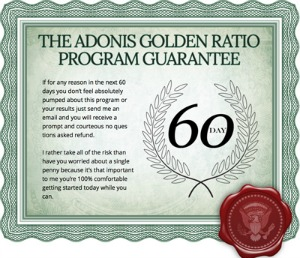 adonis golden ratio guarantee