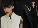 Ruby Rose wears gilet by Victoria Beckham. Photo by Christopher Ferguson. Courtesy The EDIT magazine%2c net-a-porter.com.jpg..please link to .. NET-A-PORTER.COM¿s The EDIT..MUST include mag cover