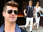 Mandatory Credit: Photo by Buzz Foto/REX Shutterstock (4842778f)\n Robin Thicke and April Love Geary\n Robin Thicke and April Love Geary out and about, New York, America - 11 Jun 2015\n \n