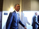 WASHINGTON, DC - JUNE 12:  US President Barack Obama President Obama departs from a meeting with House Democrats on Capitol Hill June 12, 2015 in Washington, DC. President Obama urged members of Congress to pass his trade agenda ahead of a series of votes later today.  (Photo by Mark Wilson/Getty Images)