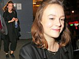 EXCLUSIVE: Pregnant actress Carey Mulligan seen for the first time after announcing her pregnancy in New York City, New York. The star, who is married to Marcus Mumford, was carrying a frozen Smart Water bottle.  Pictured: Carey Mulligan Ref: SPL1049922  100615   EXCLUSIVE Picture by: XactpiX/Splash  Splash News and Pictures Los Angeles: 310-821-2666 New York: 212-619-2666 London: 870-934-2666 photodesk@splashnews.com