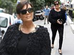Kris Jenner out and about in Paris.  Pictured: Kris Jenner Ref: SPL1050657  120615   Picture by: Splash News  Splash News and Pictures Los Angeles: 310-821-2666 New York: 212-619-2666 London: 870-934-2666 photodesk@splashnews.com