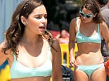 "EXCLUSIVE ALL ROUNDER Celebs on set film ""Me Before You"" in Formentor beach Palma de Mallorca Airpot, Mallorca. 10 June 2015. \n11 June 2015.\nPlease byline: G Tres/Vantagenews.co.uk"