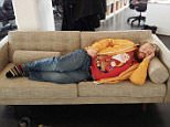 A SLEEPING office worker woke up to find himself at the centre of a hilarious viral prank.\nHaukur Vi¿ar Alfre¿sson fell asleep on the sofa while at work in Iceland after staying up late to watch a televised NBA basketball match.\nBut little did he know that his colleagues had taken a picture of him and photopshopped it into a variety of bizarre situations.\nThe images include Haukur as Gulliver sleeping on the shores of Lilliput, while he is tied up by the fictional island¿s tiny inhabitants.\nIn another, he is drifting past an airplane window while North Korean dictator Kim Jong-un looks out.\nOther pictures show the dozing Haukur being fired from a canon, playing a DJ set, breakdancing and as prey killed by big game hunters on safari.\nHe is also shown sleeping on the famous Central Perk sofa from \nthe popular TV sitcom Friends.\nThe Icelander has also been added to famous works of art, such as Leonardo da Vinci¿s Last Supper, and movie scenes, including Snow White and the Seven D