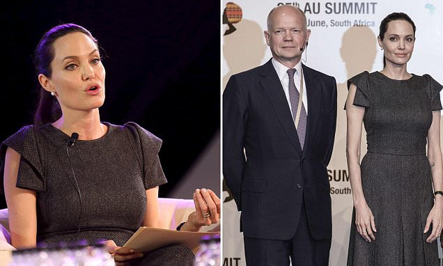 Angelina Jolie and William Hague team up for African Union summit over rape of women in