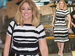 MUST BYLINE: EROTEME.CO.UK Singer Kimberley Walsh is pictured leaving the ITV studios following a guest appearance on 'This Morning'. NON-EXCLUSIVE    June 12,  2015 Job: 150612L5    London, England EROTEME.CO.UK 44 207 431 1598 Ref:  341629