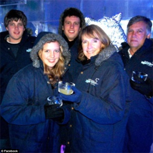 Split apart: Henri van Breda (back left) reported that he had escaped the attack with minor injuries while his father Martin, 55 (back right), mother Teresa, 54 (front right), and brother Rudi, 22 (back centre) were killed. Marli, 16 (front left), suffered severe head and throat injuries