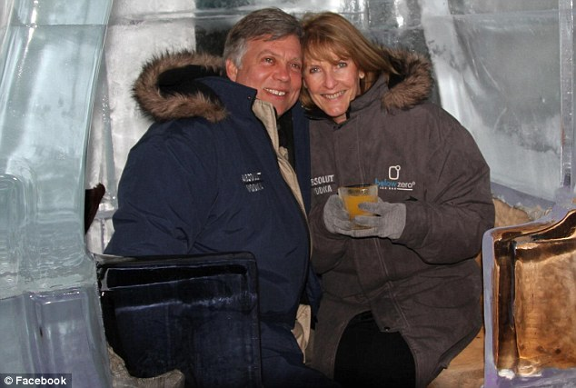 Deceased: Martin (left) and wife Theresa (right) both died at their home in Stellenbosch - about 50 kilometres, east of Cape Town