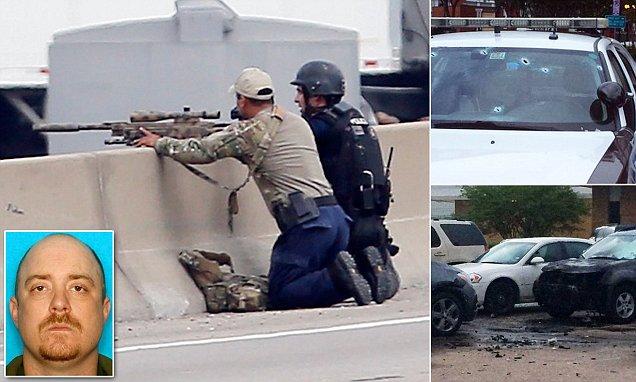Dallas police shoot dead gunman who planted EXPLOSIVES