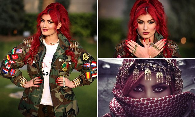 Helen Abdulla who inspires troops with her songs about destroying ISIS