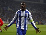 Porto's Jackson Martinez celebrates after scoring his goal against Bayern Munich during their Champions League quarterfinal first leg soccer match at Dragao stadium in Porto April 15, 2015.   REUTERS/Rafael Marchante TPX IMAGES OF THE DAY